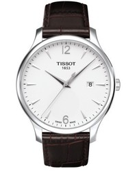 Tradition leather strap watch 42mm medium 4913681
