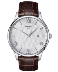 Tissot Tradition Leather Strap Watch 42mm
