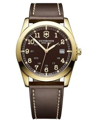 Swiss Army Victorinox Infantry Leather Strap Watch 40mm