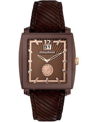 Tommy Bahama Watch Swiss Dark Brown Leather Strap 40mm Tb1125