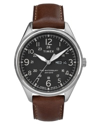Timex Waterbury Leather Band Watch