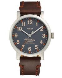 Timex Waterbury Leather Strap Watch 40mm