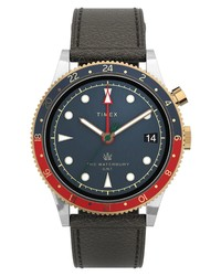 Timex Waterbury Traditional Gmt Leather Watch
