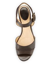 df8b4674e06 ... Frye Carlie Leather Wedge Sandal Dark Brown ...