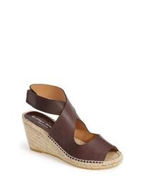 Mobile leather wedge espadrille sandal medium 251029
