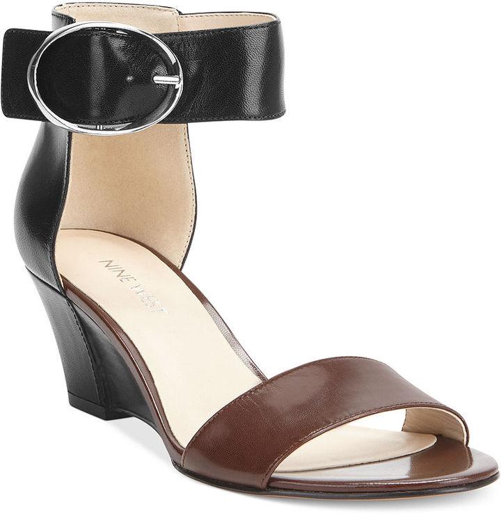 88786fb30 Nine West Ventana Ankle Strap Demi Wedge Sandals, $79   Macy's ...