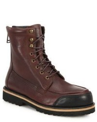 Belstaff Bayswater Calf Leather Combat Boots