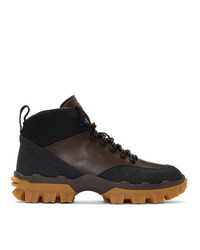 Moncler Black And Brown Hektor Boots