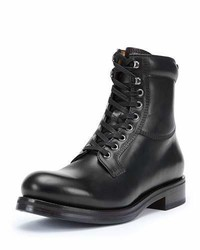 Carter lace up leather work boot dark brown medium 791428