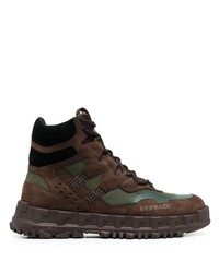 Versace Lace Up Hiking Boots