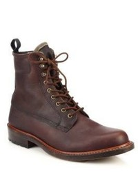 rag & bone Officer Lace Up Leather Boots