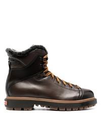 Santoni Shearling Lining Mountain Boots