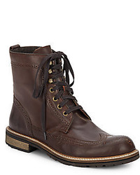 John Varvatos Star Leather Lace Up Boots