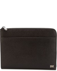 Dolce & Gabbana Textured Leather Pouch