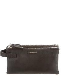 Ermenegildo Zegna Leather Zip Pouch