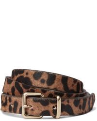 J.Crew Leopard Print Calf Hair Belt Leopard Print
