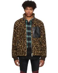 Amiri Polar Fleece Printed Leopard Jacket