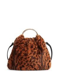 Ring handle faux fur bag medium 8685689