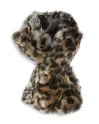 Sole Society Leopard Faux Fur Stole