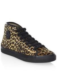 Stella McCartney Leopard Print High Top Sneakers