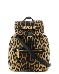Moschino Leopard Print Backpack