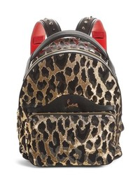 Christian Louboutin Small Backloubi Metallic Print Backpack