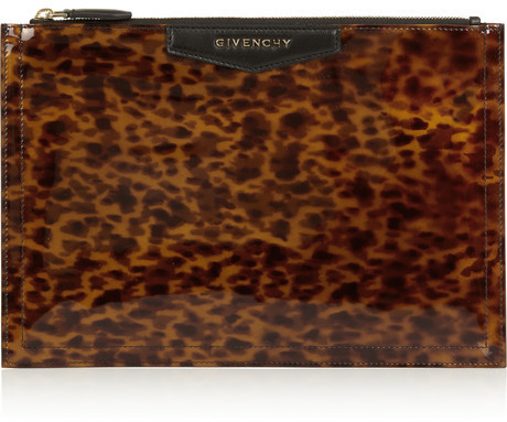 756101d467 ... Givenchy Antigona Pouch In Leopard Print Patent Leather ...