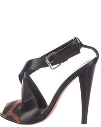 Leather crossover sandals medium 3725521