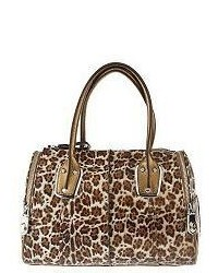 Animal printed luxe leather eastwest satchel medium 344818