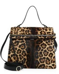 Topaz leopard print calf hair tote medium 742999