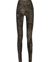Dark Brown Leopard Leggings