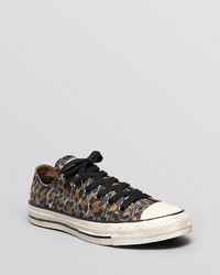Converse Lace Up Sneakers All Star Snow Leopard Print