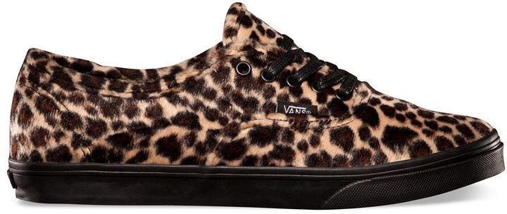 ... Vans Furry Leopard Authentic Lo Pro Shoes ... 61f3b3d7c
