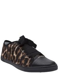 Lanvin Leopard Print Sneakers