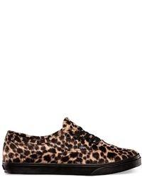 Vans Furry Leopard Authentic Lo Pro Shoes
