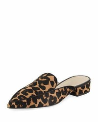 Cole Haan Piper Grand Flat Loafer Mule Ocelot Leopard
