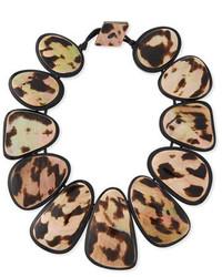 Viktoria Hayman Resin Statet Collar Necklace Leopard