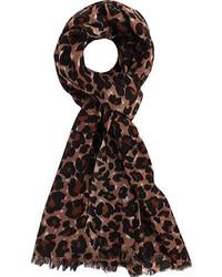 San Diego Hat Company Leopard Print Scarf Bss1411 Plum Scarves