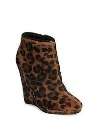 Bourne agatha leopard low ankle boots medium 53490
