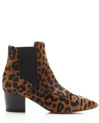 Tabitha Simmons Shadow Printed Calf Hair Ankle Boots Leopard