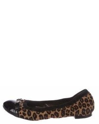 Cap toe ponyhair flats medium 7012587
