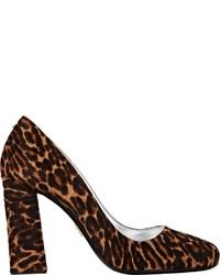 Prada Leopard Calf Hair Pumps Colorless Size 5