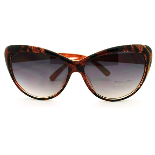 Animal Cat Eye Print Sunglasses Diva Brown Leopard Classic 1JFTlcK