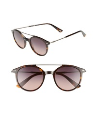 WEB 50mm Round Aviator Sunglasses