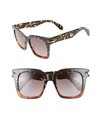 Rag & Bone 51mm Polarized Gradient Square Sunglasses
