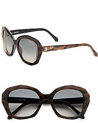 54mm oversized leopard print square sunglasses medium 194323