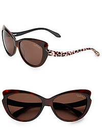 Roberto Cavalli 59mm Notched Cats Eye Sunglasses