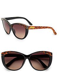 60mm Two Tone Cats Eye Sunglasses