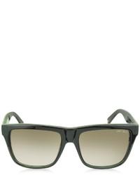 Jimmy Choo Alexns 9h7js Black Leopard Print Square Frame Sunglasses