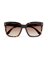 Tom Ford Amarra Square Frame Tortoiseshell Acetate Sunglasses